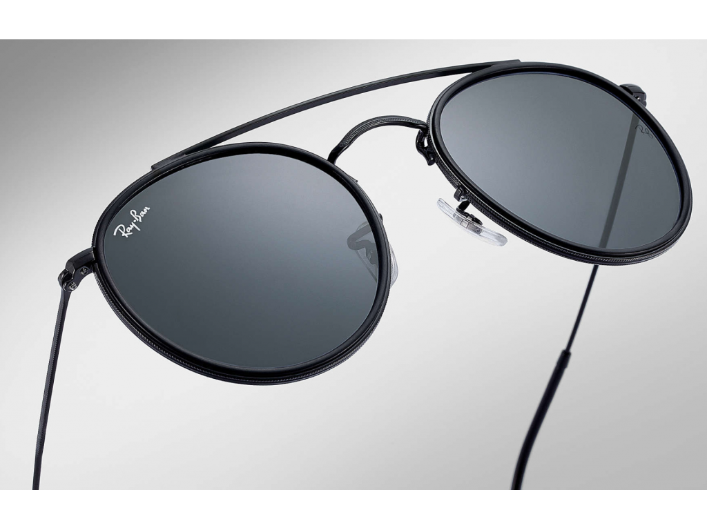 627a8fa9fa6 Ray-ban Double Bridge Rb3647n 002 r5 Black Grey